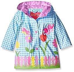 Wippette Baby Lovely Garden Rainwear, Blue, 24 Months