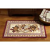 Primitive Country Hearts And Stars Accent Rug