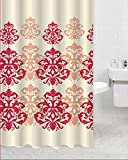 "Luxury Fabric Shower Curtain, Trendy Design, Water Repellent, 70""x70"", Victoria"