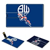 8GB USB Flash Drive 2.0 Memory Stick Sports English Premier League Bolton Wanderers team logo Credit Card Size Customized Support Services Ready EPL Arsenal Man Utd Liverpool football club soccer Wayne Rooney Steven Gerrard
