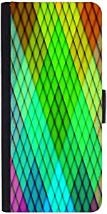 Snoogg Rainbow Diamond Pattern 2689 Designer Protective Flip Case Cover For S...