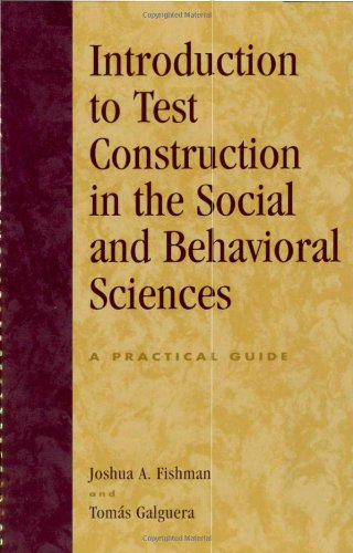 Introduction to Test Construction in the Social and...