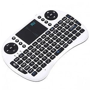 Rii ® 2.4G Rii mini i8 Teclado inalámbrico con Touchpad Wireless Keyboard para PC Pad Google Android TV Box (i8 Teclado blanco)  Electrónica más noticias y comentarios