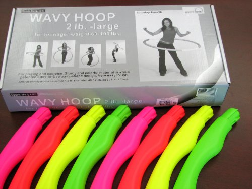Sports Hula Hoop for Playing - Wavy Hoop 2 b. large - No sponge item