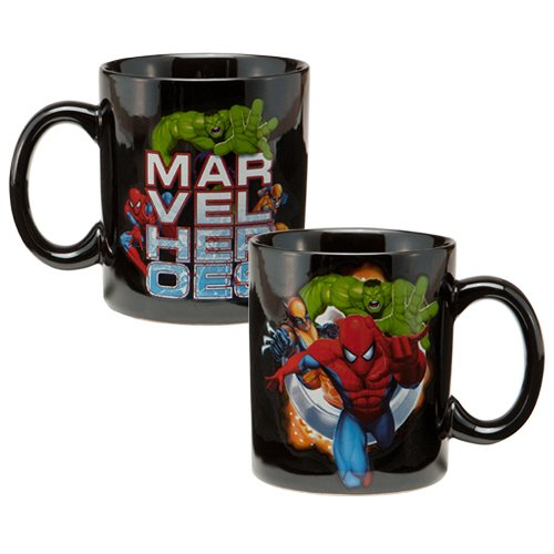 Vandor 26061 Marvel Heroes Ceramic Mug, Multicolored, 12-Ounce