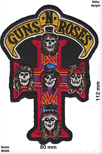 Patch - Guns n Roses - black - HQ - MusicPatch - Rock - Chaleco - toppa - applicazione - Ricamato termo-adesivo - Give Away