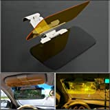 E-PRANCE 2 in 1 Car Transparent Anti-glare Glass Car Sun Visor for Day & Night Driving