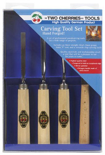 "Robert Larson Co 515-3424 ""Two Cherries"" Woodcarving Set"