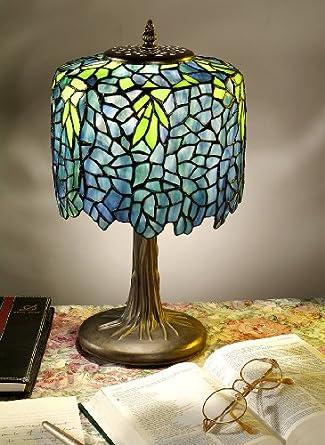 tiffany style table lamp blue wisteria lighting. Black Bedroom Furniture Sets. Home Design Ideas