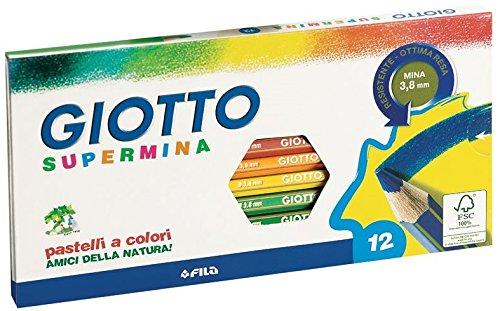 giotto-235700-pastelli-supermina-38-mm-confezione-da-12