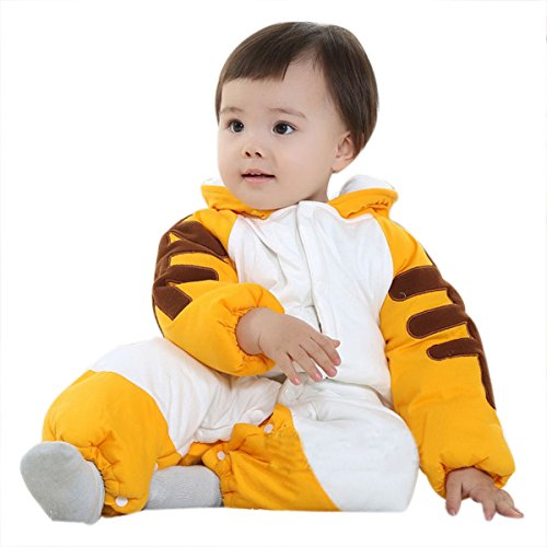 TANZKY® Unisex-Infant Romper Newborn Baby Tiger Costume