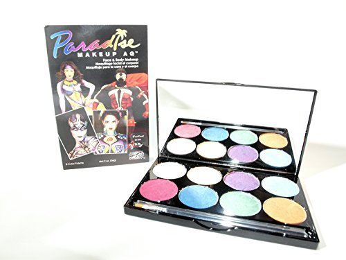 Mehron Paradise Brilliant E17D5 Face Paint Palettes (8 Colors) by Mehron