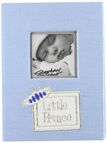 Stephan Baby Little Prince Keepsake Mini Photo Album Brag Book, Blue - 1