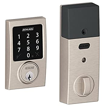 Schlage Lock Company BE468CEN619 Connect Century Touchscreen Deadbolt, Satin Nickel