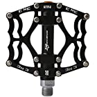 Rockbros Bike Bicycle Pedals 9/16 MTB BMX DH Platform Pedals Cycling Pedals (Black)