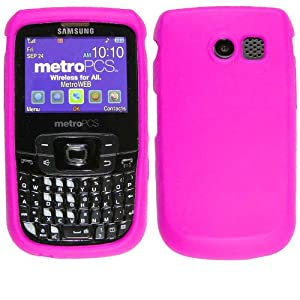 Samsung Freeform R360 Hot Pink Silicone Skin Case / Rubber Soft Sleeve Protector Cover