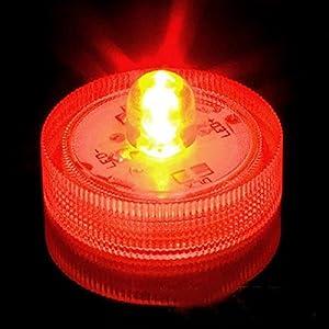 MStar Submersible Battery LED Lights White Wedding Tea Lights Red from MStar