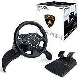 echange, troc Atomic Accessories Super Sport Steering Wheel Lamborghini (PS3/PS2/PC) [import anglais]