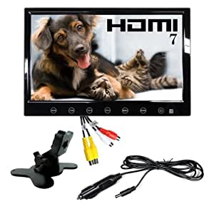 HDMI iPhone5充電可USB 内蔵 シガー 電源 スピーカー 付 7インチ オンダッシュモニター