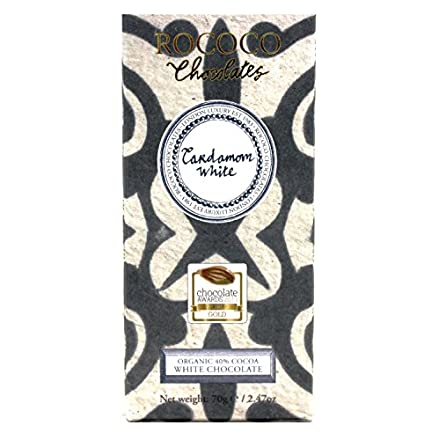 Cardamom Organic White Chocolate Artisan Bar
