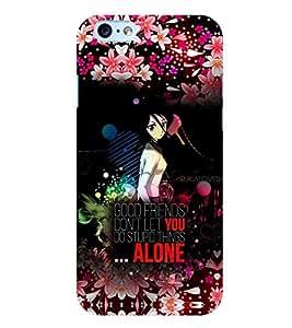 Fuson 3D Printed Quotes Designer back case cover for Apple I Phone 6 Plus - D4515