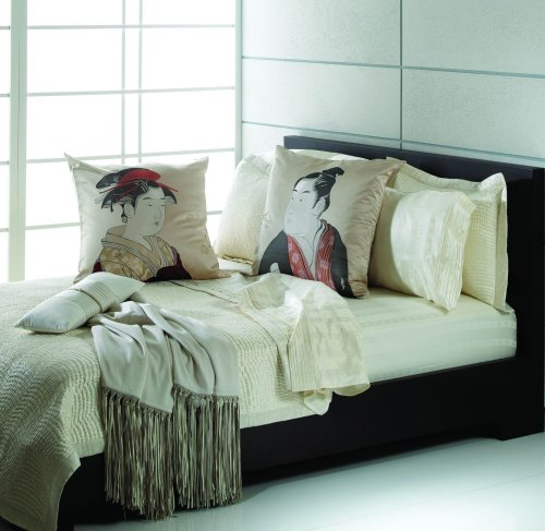 Natori Double Happiness Silk Filled Coverlet