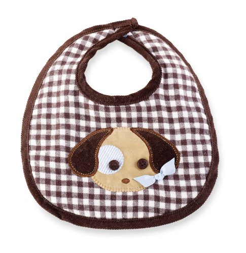 Mud Pie Baby-Boys Newborn Puppy Bib, Multi, One Size