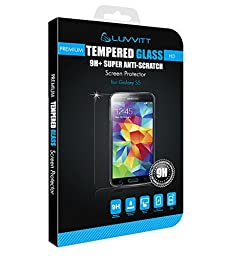 LUVVITT Samsung Galaxy S5 TEMPERED GLASS Screen Protector for Samsung Galaxy S5 - Crystal Clear