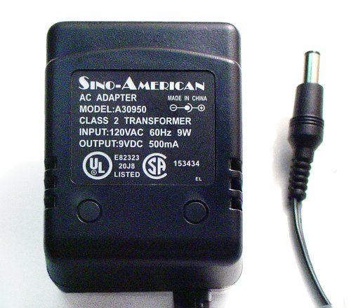 Ac-Dc Adapter 9Volts Dc @ 500Ma 2.1Mm Dc Power Plug Negative Center