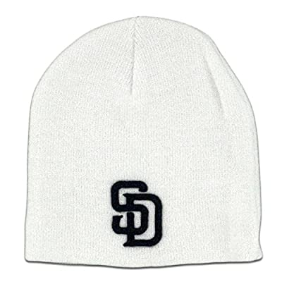 TWINS ENTERPRISE San Diego Padres Cuffless Beanie White / Dark Navy SD Logo