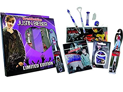Brush Buddies 00326-6 Justin Bieber Ultimate Toothbrush Gift Pack (Pack of 5)