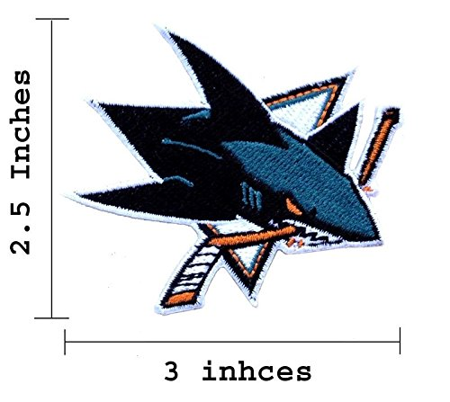 San Jose Sharks Logo Embroidered Iron on Patches. (Sharks Patch compare prices)