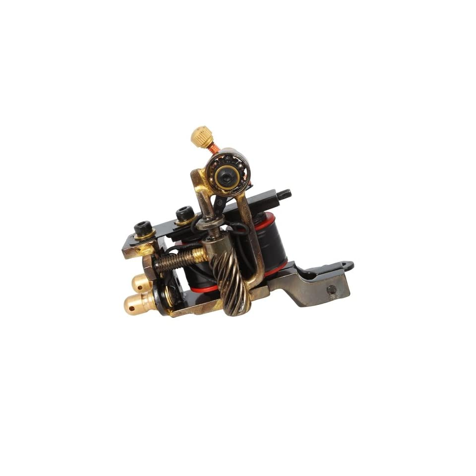 HB WGG137 10 Wrap Coils Iron Tattoo Machine Liner Gun Black Health & Personal Care