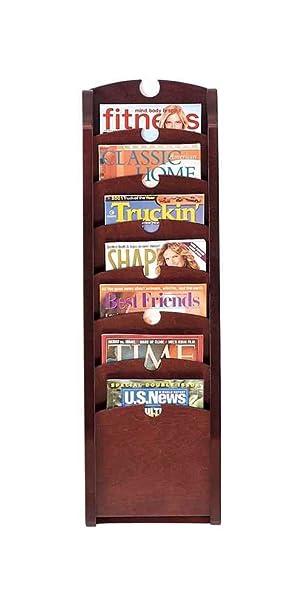 Seven Pocket Magazine Rack (Mahogany)