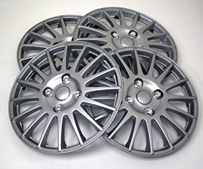 TuningPros WSC-611S15 Hubcaps Wheel Skin Cover 15-Inches Silver Set of 4