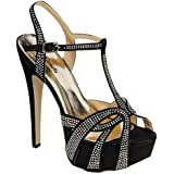 Eye Candie Celine-86 Women's Sexy Slingback High Heel Sandals