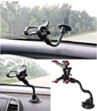 Gtopin(TM) Universal Car Mount Holder for iPhone 6/6 Plus/5S/5C/5/4S/4 , iPod Touch, Samsung Galaxy S5/S4/S3 Car Mount, Samsung Galaxy Note 4/3/2 Car Mount, Car Holder for LG G3/G2/G Flex/Pro 2/OPTIMUS/Nexus, Car Mount for HTC One M8/M7/Mini/Max/One X, Sony Xperia Z3/Z2/Z1, Nokia, Motorola, Blackberry Bold 9900/Q10/Z10, Car Mount for GPS and Most Mobile Cell Phones , Double Clip , 360 Degree Rotation