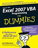 Excel 2007 VBA Programming For Dummies Front Cover