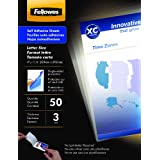 Fellowes Self-Adhesive Sheets, Letter Size, 3 mil, 50 Pack (5221502) ~ Fellowes