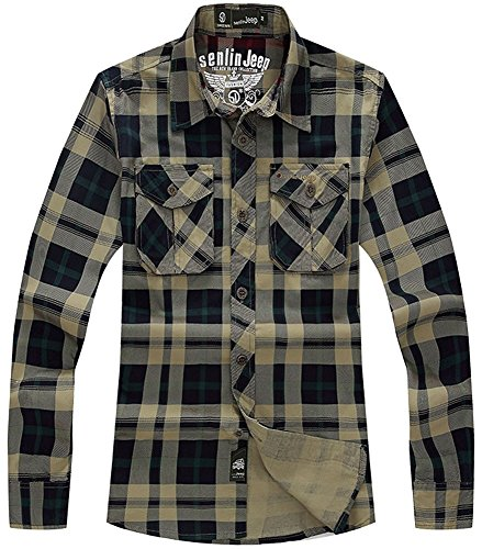 ylily-camicia-casual-uomo-army-green-and-navy-large