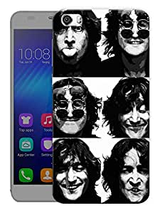 "Humor Gang John Lennon Multi Faces - The Beatles Printed Designer Mobile Back Cover For ""Huawei Honor 6"" (3D, Matte, Premium Quality Snap On Case)"