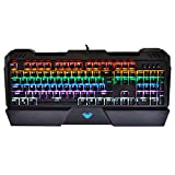 AULA Sapphire Backlit Mechanical Keyboard with Blue Switch, Ergonomic keyboard, Gaming Keyboard and Computer Keyboard