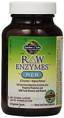 Garden of Life RAW Enzymes? Men, 90 Capsules