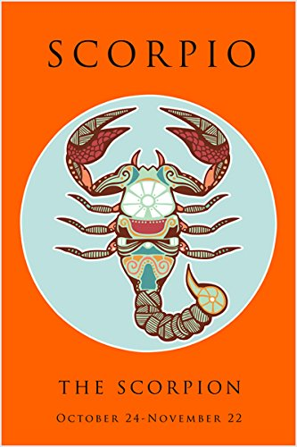 scorpio-astrology-ART-POSTER-24X36-THE-SCORPION-zodiac-symbolic-BRIGHT-new