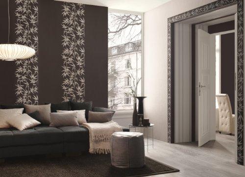 Tapeten Schlafzimmer Grau : crème Jette 2 metallic Wohnzimmer grau ...