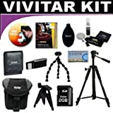 Vivitar Brand Deluxe Accessory Kit Which Includes Tripods + Case + SD 2GB Card + Much More For The Kodak Easyshare Z1285, Z1275, Z885, Z650, C1013, C913, C875, C813, C743, C713, C653, C613, C513, C433, C643, C533, C663, C360, C330, C310, C340, C300 Digital Cameras