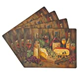 Benson Mills Cork Placemats, Cabernet, Set of 4