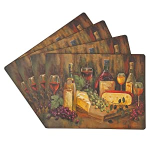 Benson Mills Cork Placemats, Cabernet, Set of 4