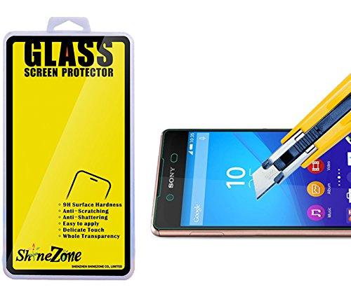 【ShineZone】Sony Xperia Z4 専用強化ガラスフィルム 0.3mm 超薄型.表面硬度9H・ラウンドエッジ加工・飛散防止処理・ 気泡防止・高光沢 ・耐衝撃・指紋防止保護シール