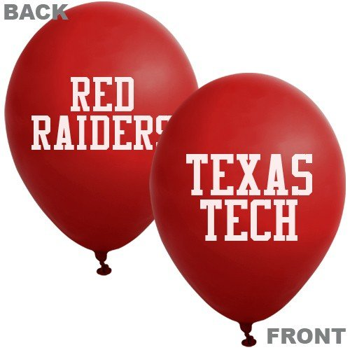 "NCAA Texas Tech Red Raiders Scarlet 10-Pack 11"" Latex Balloons"